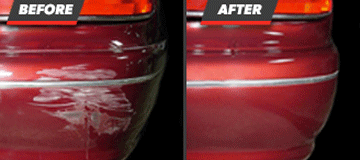 Before and After Bumper Scuff Repair