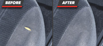 Before and After Fabric Restoration