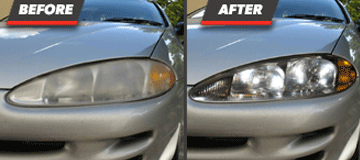 Before and After Headlight Restoration