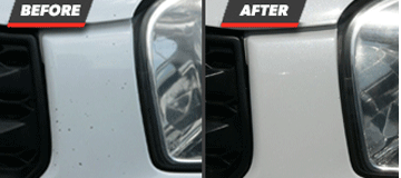 Before and After Paint Chip Repair