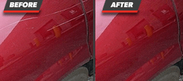 Before and After Paint Scratch Repair